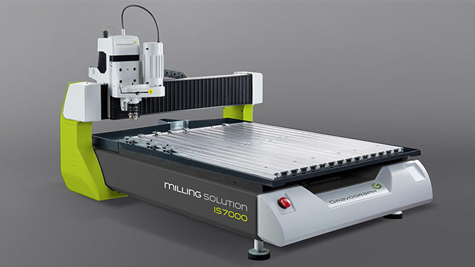 Gravograph IS7000 Large Format engraving and cutting machine.