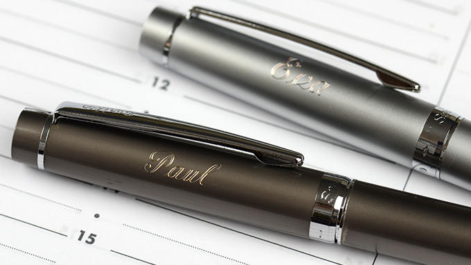 Engraving and personalizing pens