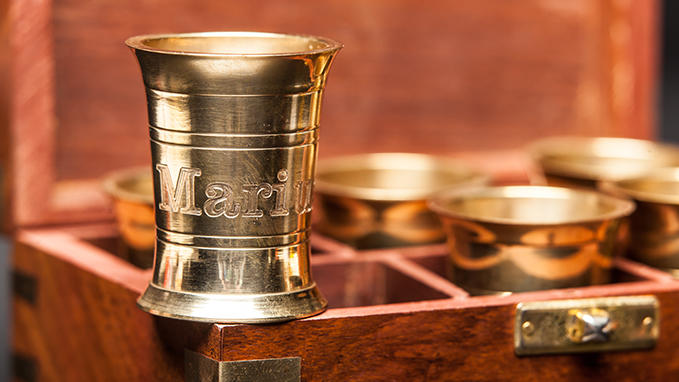 Engraved metal tumblers